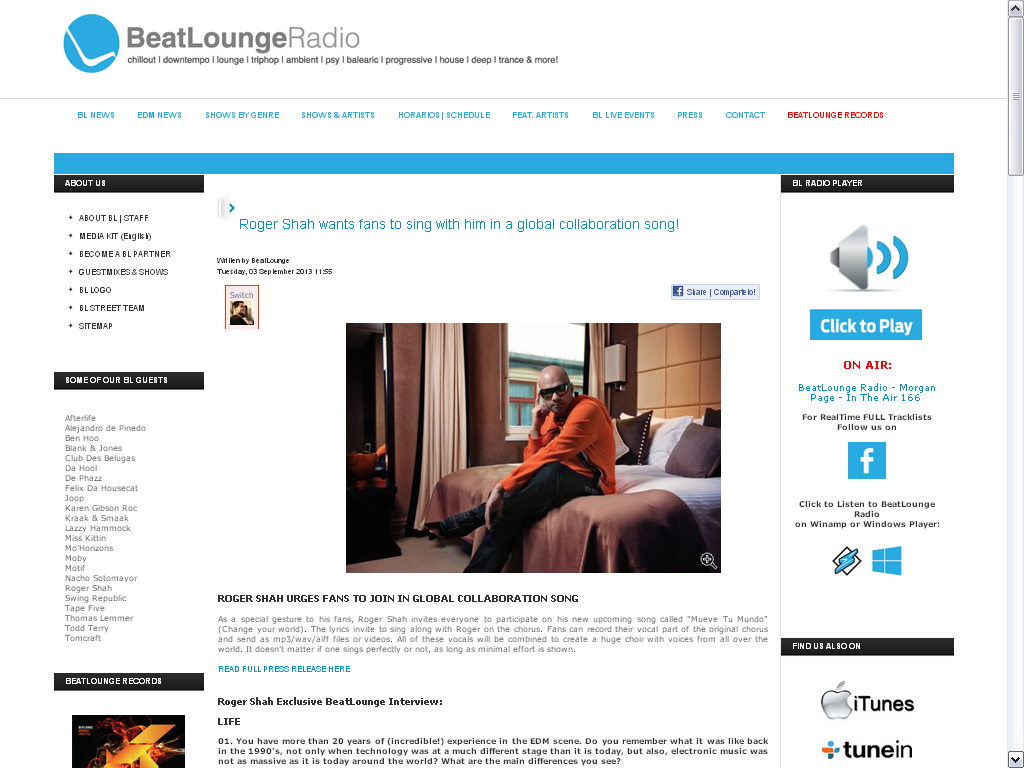 Roger Shah interview