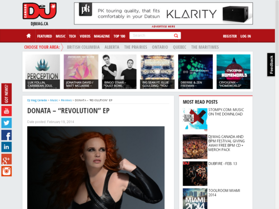 DONATA featured on DJ MAG CANADA