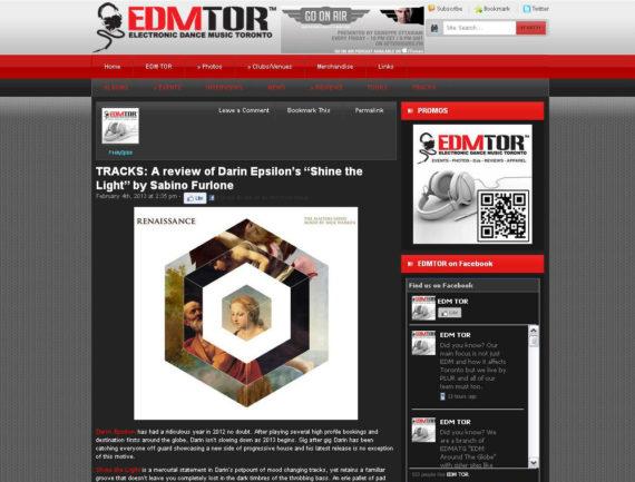 Darin Epsilon featured on EDM Toronto